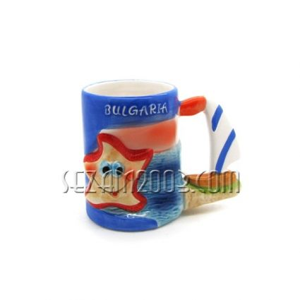 Cup ceramic sea motifs