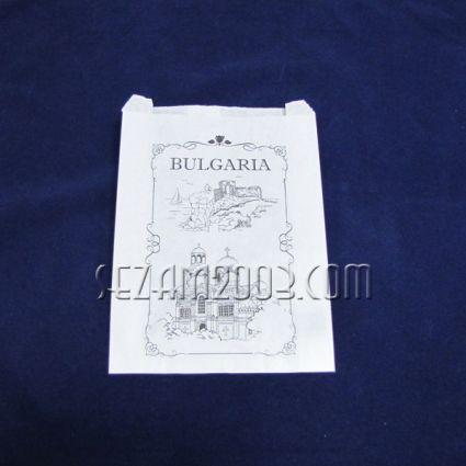 хартиена торбичка с надпис и рисунки - БЪЛГАРИЯ