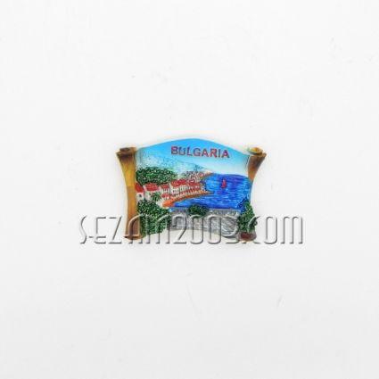 магнит за хладилник от полирезин - ПАПИРУС и пейзаж + БГ