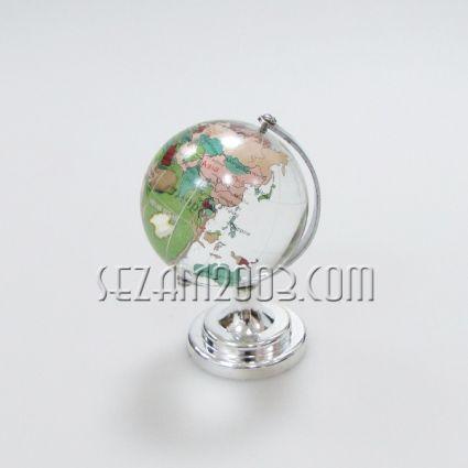 Стъклен глобус на метална основа