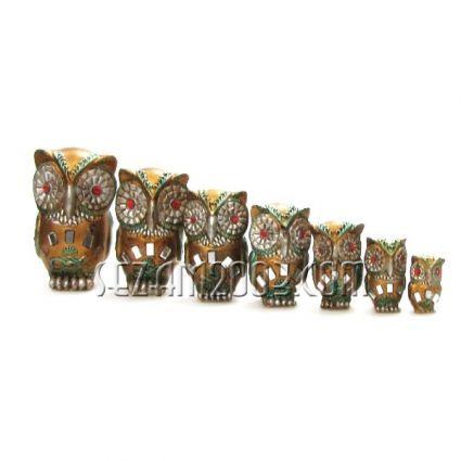 Бухалчета 7 броя комплект - фигури от резин