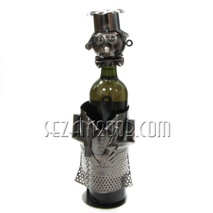 CHEF - wine bottle holder made of metal