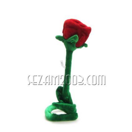 Валентинка-роза плюш мека дръжка