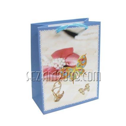 Подаръчна торбичка от лукс хартия - ПЕПЕРУДА