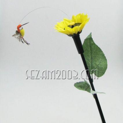 ПТИЧЕ  летящо и цвете - подвижен соларен сувенир