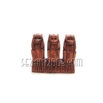 МАЙМУНКИ тройка на поставка от дърво