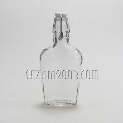 шише от масивно стъкло с капачка - подходящо за персонализиране