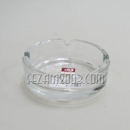 пепелник от масивно стъкло  подходящ за персонализиране
