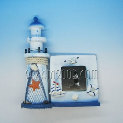 ФАР - рамка за снимки  от дърво - морски декор