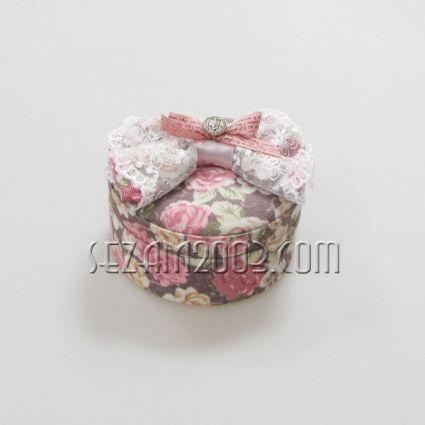Кутия за бижута от плат с огледало - различни форми