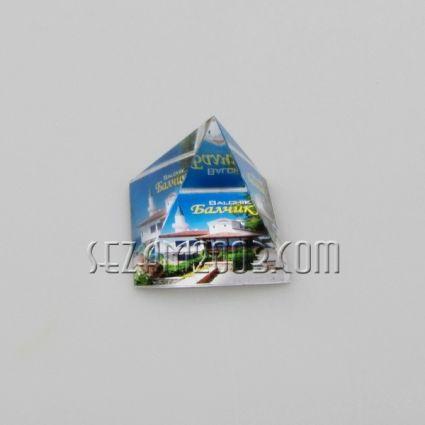 ПИРАМИДА от стъкло с картинка - Балчик