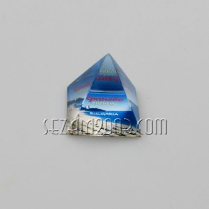 ПИРАМИДА от стъкло с картинка - Кранево