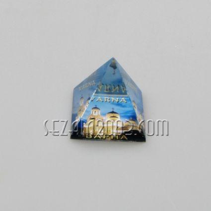 ПИРАМИДА от стъкло с картинка - Варна