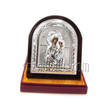 икона от мдф и метал в лукс.кутия
