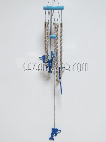 ДЕЛФИНЧЕТА - вятърен звънец от дърво и алуминий