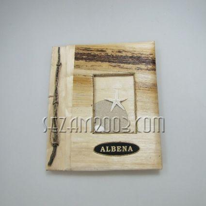 Албум за снимки от еко материали с надпис - ALBENA