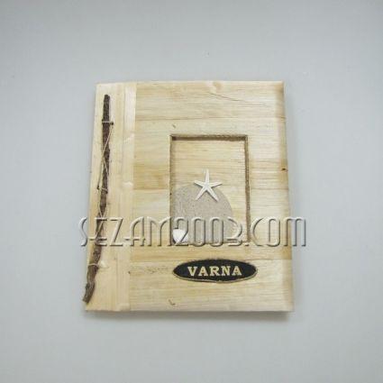 Албум за снимки с 10 листа  от еко материали и надпис - VARNA