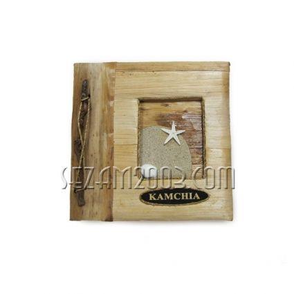 Албум за снимки от еко материали с надпис от пясък - KAMCHIA