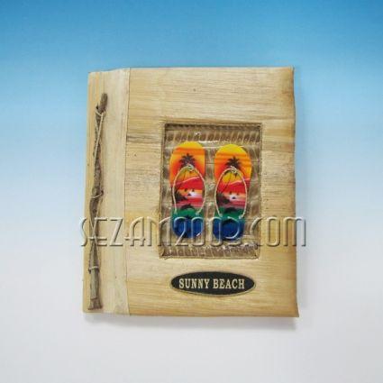 албум за снимки от еко материали и надпис  SUNNY BEACH