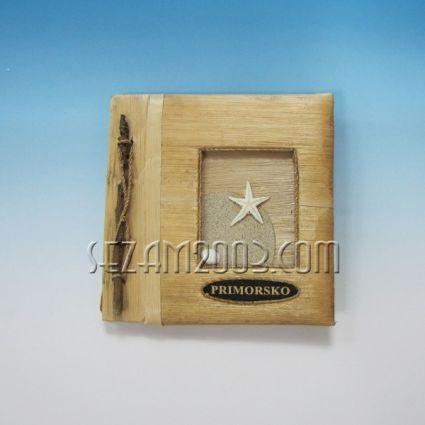 Албум за снимки от еко материали с надпис PRIMORSKO