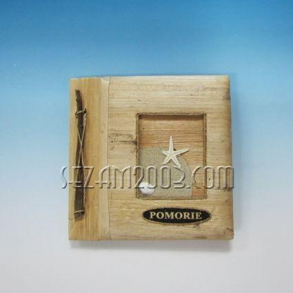 албум за снимки от еко материали и надпис POMORIE
