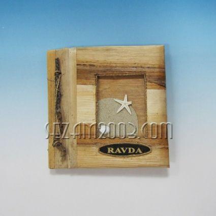 Албум за снимки-10 листа-еко материали с надпис RAVDA