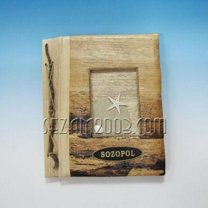 Албум за снимки от еко материали и надпис SOZOPOL