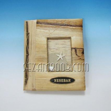 албум за снимки от еко материали и надпис NESEBAR