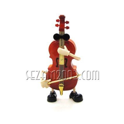 ВИОЛОНЧЕЛО - музикален / подвижен  сувенир от пластмаса-без батерии.