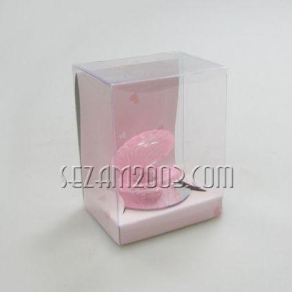 мида от стъкло и брокат в подаръчна кутийка