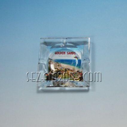 ПЕПЕЛНИК от стъкло с картинка от Златни пясъци