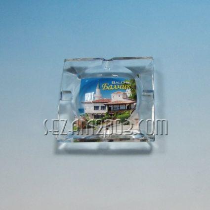 ПЕПЕЛНИК от стъкло с картинка от Балчик