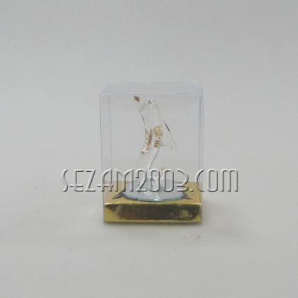 ДЕЛФИНЧЕ фигура от стъкло в кутийка