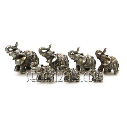 elephants decorated