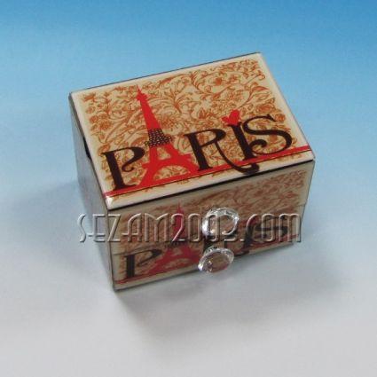 кутия за бижута от стъкло+чекмеджета-МОДА