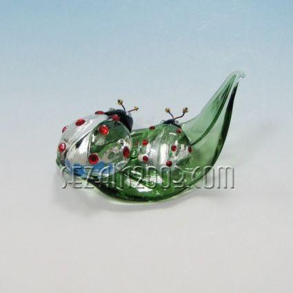 КАЛИНКИ на листо  фигура от  стъкло