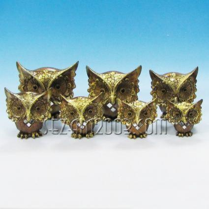 бухалчета от полирезин декорирани 7бр. к-т