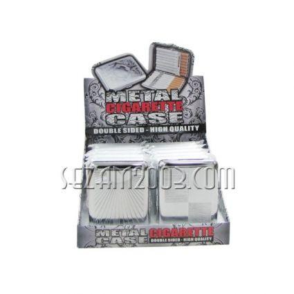 табакера за цигари метал хром