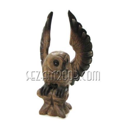БУХАЛ с разперени криле - фигура от дърво