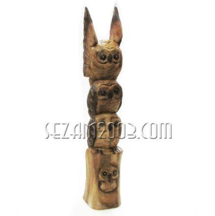 БУХАЛЧЕТА на пирамида с разперени криле - фигура от дърво ръчна изработка