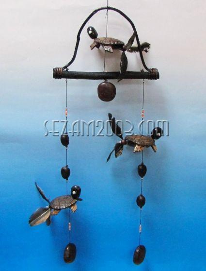 вятърен звънец+въртележки КОСТЕНУРКА от кокос