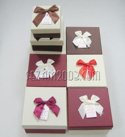 Подаръчни кутии от лукс картон - квадрат