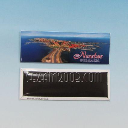 магнит за хладилник - метална пластина - Несебър