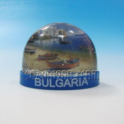 Магнит за хладилник /преспапие със сменяема картинка от пластмаса и надпис България