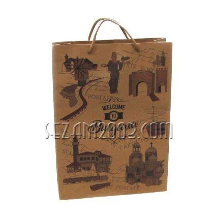Подаръчна торбичка от хартия с изгледи от БЪЛГАРИЯ