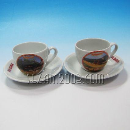чаша кафе+чинийка -2 бр.к-т с картинки от св.св.Константин и Елена