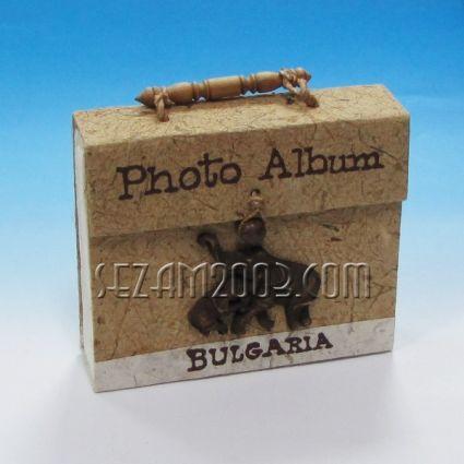 Албум /чантичка ЕСТЕСТВЕНИ материали от хартия + слончета+BG - 36 снимки