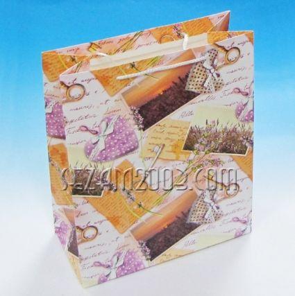 подаръчна торбичка от лукс хартия с брокат