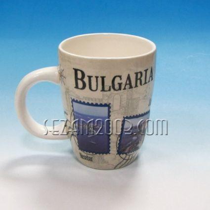 чаша керамична с БГ колаж и релефни картинки  Несебър,Созопол,Зл.пясъци,Варна