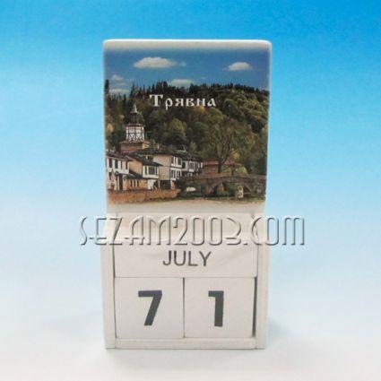 календар от дърво - ТРЯВНА